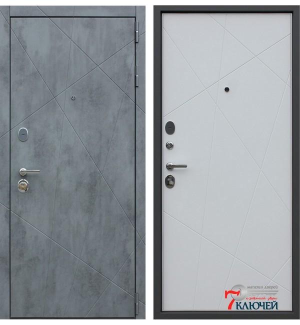 Дверь БЕТОН, белый матовый