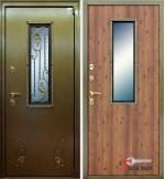 Дверь АСД с окном и ковкой