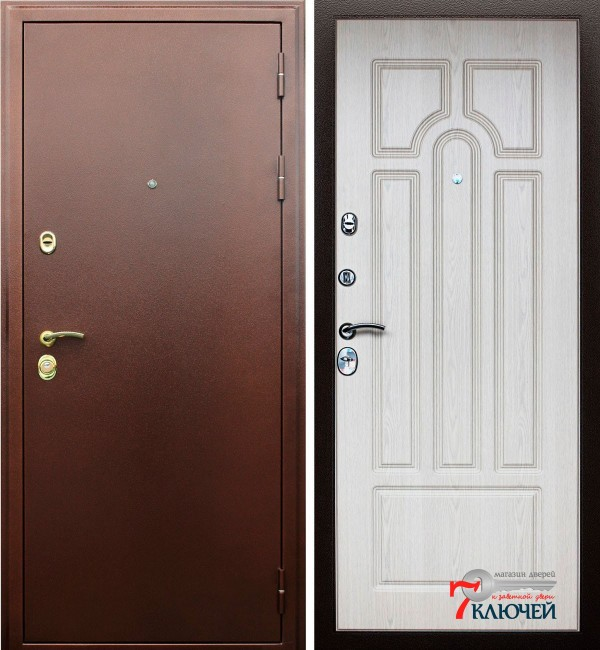 Дверь АСД Прометей, белёный дуб