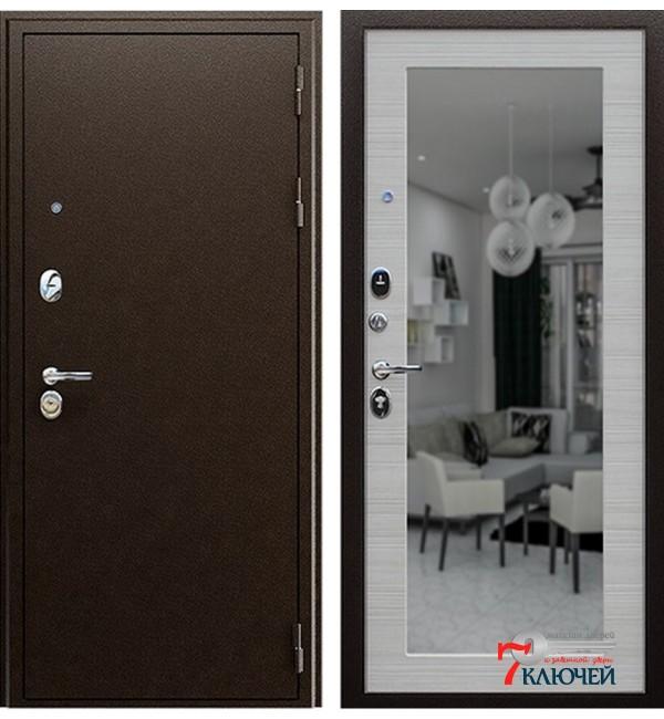 Дверь СПАРТАК с зеркалом, акация