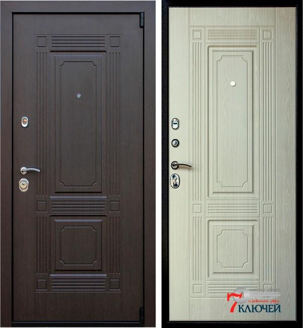 Дверь ВИКИНГ, беленый дуб