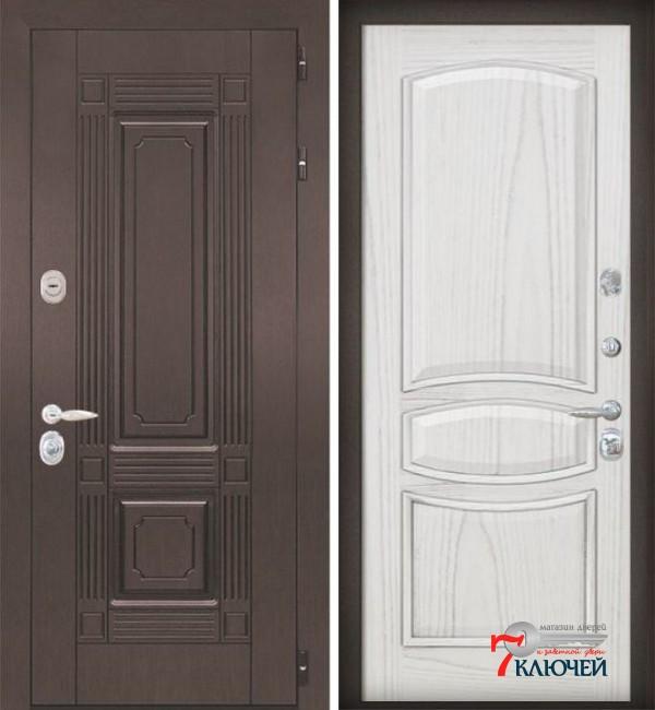 Дверь ИТАЛИЯ 1, шпон ясень жемчуг