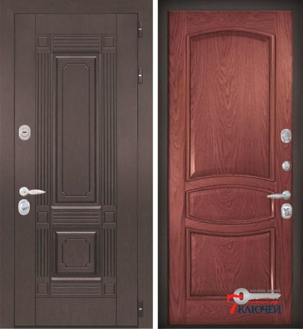 Дверь ИТАЛИЯ 1, шпон красное дерево