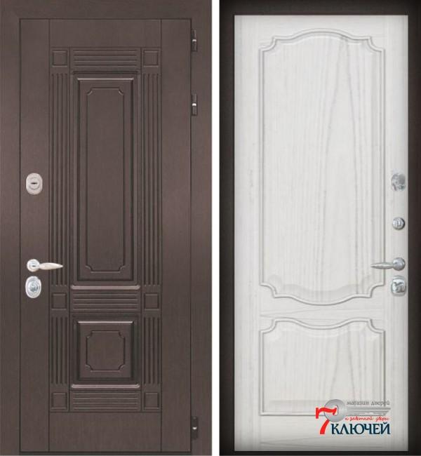 Дверь ИТАЛИЯ 2, шпон ясень жемчуг