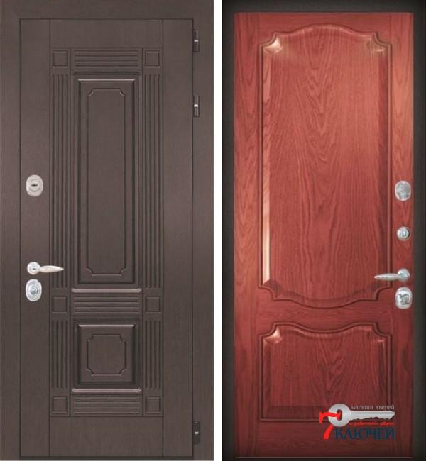 Дверь ИТАЛИЯ 2, шпон красное дерево
