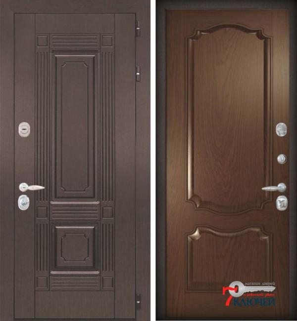 Дверь ИТАЛИЯ 2, шпон бургундский дуб
