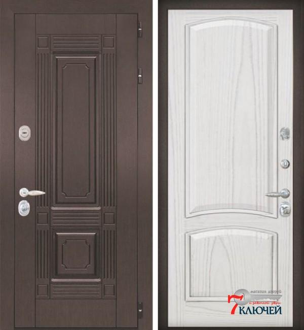 Дверь ИТАЛИЯ 3, шпон ясень жемчуг
