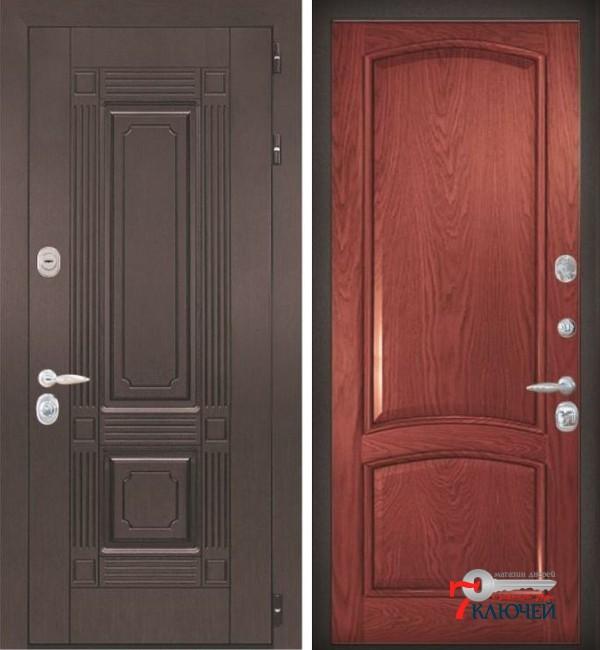 Дверь ИТАЛИЯ 3, шпон красное дерево