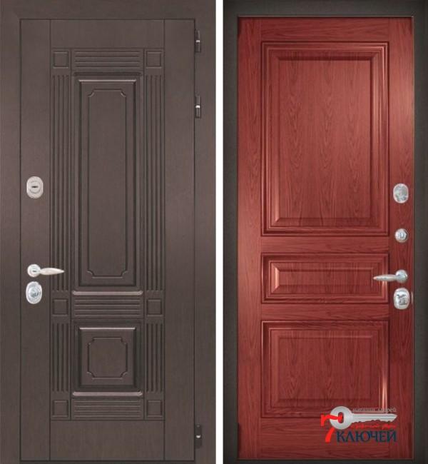 Дверь ИТАЛИЯ 4, шпон красное дерево