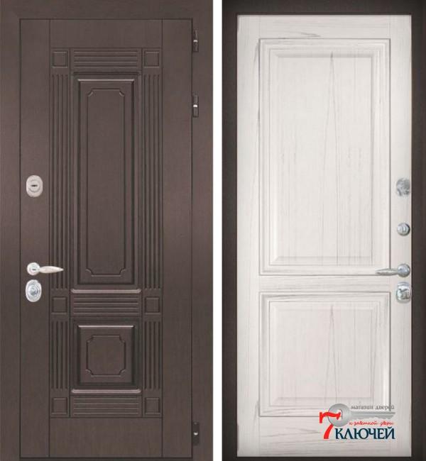 Дверь ИТАЛИЯ 5, шпон ясень жемчуг