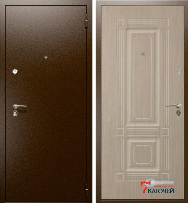 Дверь Интекрон ОПТИМА, беленый дуб