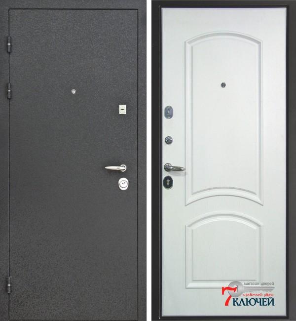 Дверь Интекрон ПЕРСЕЙ, белое серебро