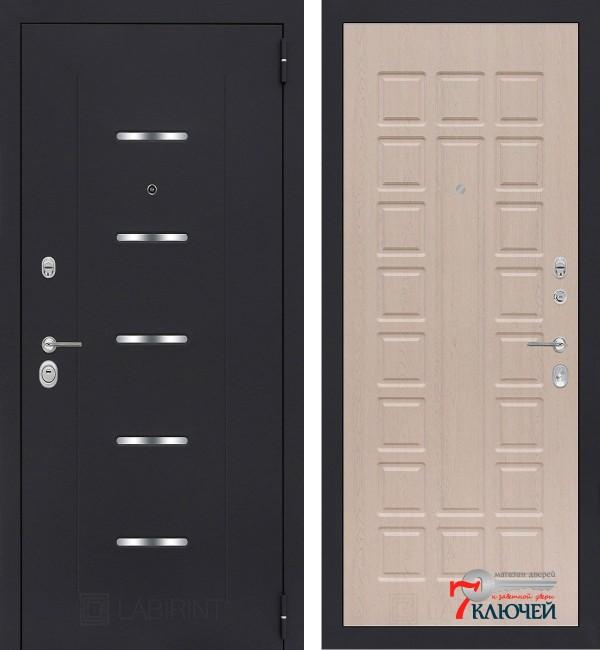 Дверь Лабиринт ALFA 04, беленый дуб