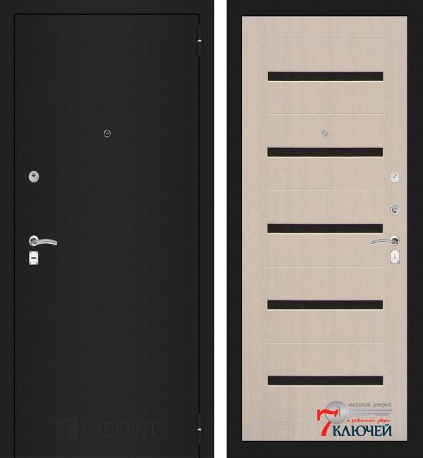 Дверь Лабиринт CLASSIC-1 01, беленый дуб