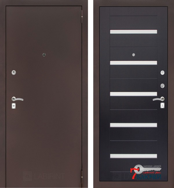 Дверь Лабиринт CLASSIC-2 01, венге