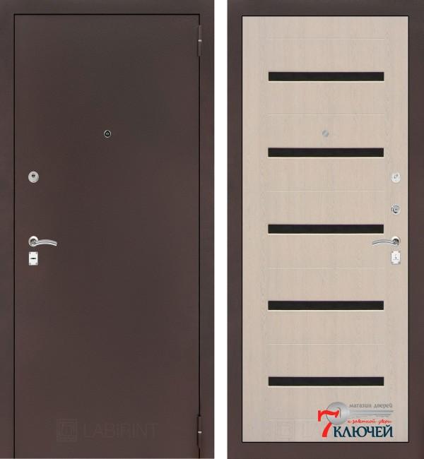 Дверь Лабиринт CLASSIC-2 01, беленый дуб