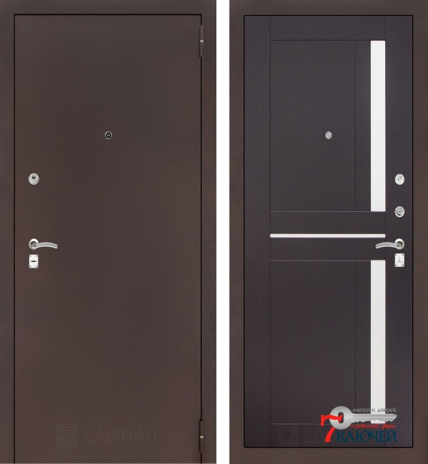 Дверь Лабиринт CLASSIC-2 02, венге
