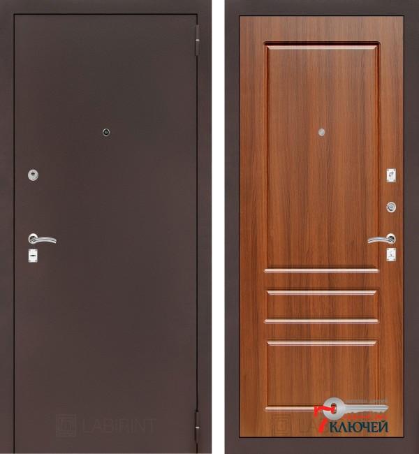 Дверь Лабиринт CLASSIC-2 03, орех бренди