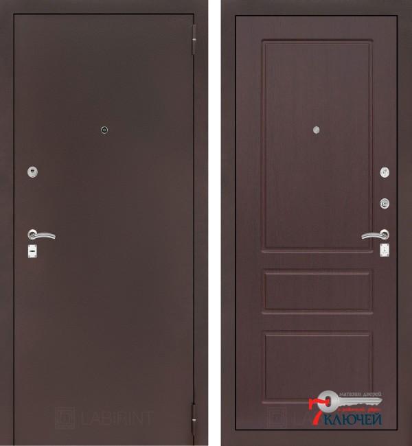 Дверь Лабиринт CLASSIC-2 03, орех премиум