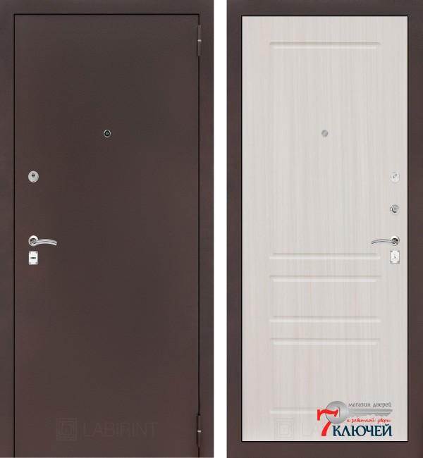 Дверь Лабиринт CLASSIC-2 03, сандал белый