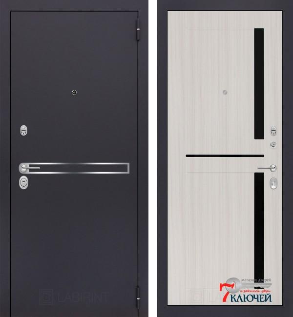 Дверь Лабиринт LINE 02, сандал белый