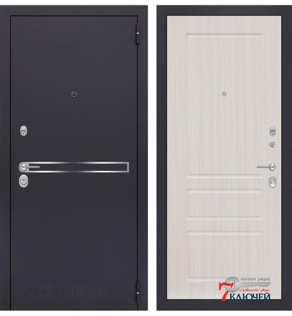 Дверь Лабиринт LINE 03, сандал белый