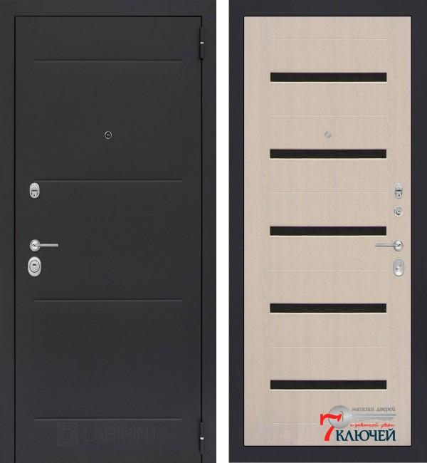 Дверь Лабиринт LOFT 01, беленый дуб