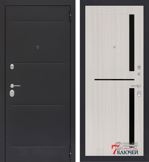 Дверь Лабиринт LOFT 02, сандал белый