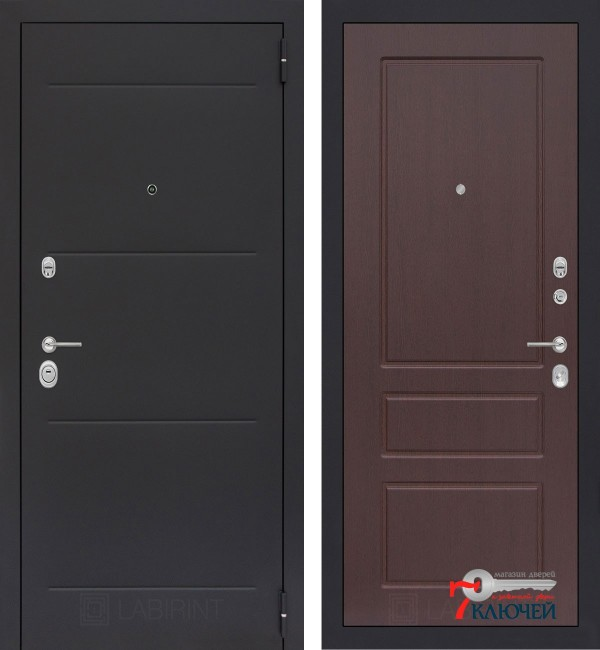 Дверь Лабиринт LOFT 03, орех премиум