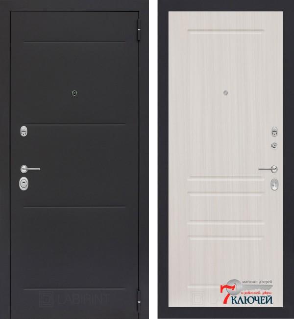 Дверь Лабиринт LOFT 03, сандал белый