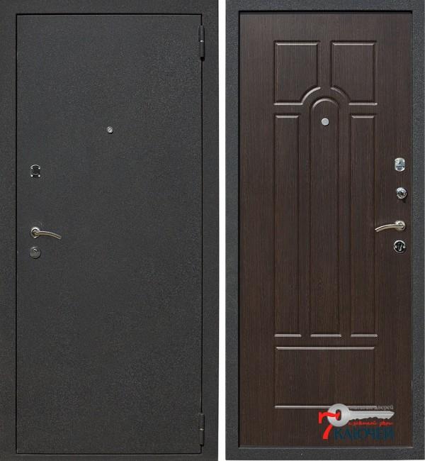 Дверь ЛЕКС 1А, черный муар