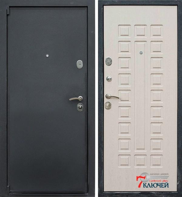Дверь ЛЕКС 3, беленый дуб