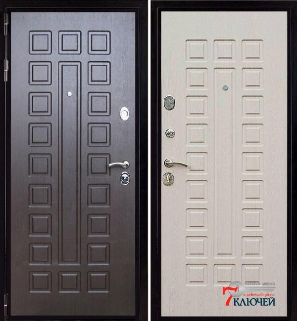 Дверь ЛЕКС ГЛАДИАТОР, беленый дуб