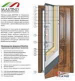 Дверь Mastino PARKO с зеркалом, венге