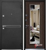 Дверь Mastino PARKO с зеркалом, каштан темный