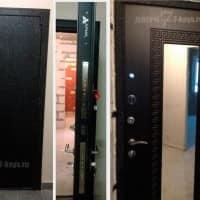 Дверь с зеркалом Арма. Установлена в студии ЖК Лукино-варино