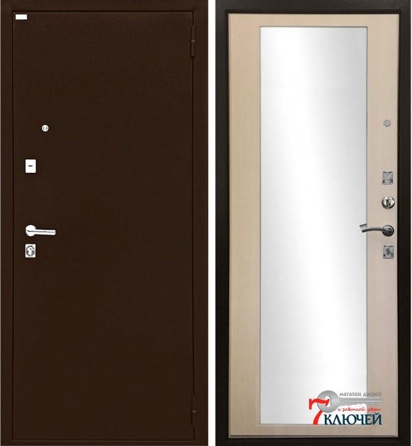 Дверь ЛЮКС, экодуб с зеркалом