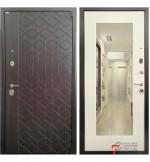 Дверь КВАНТ, лиственница с зеркалом