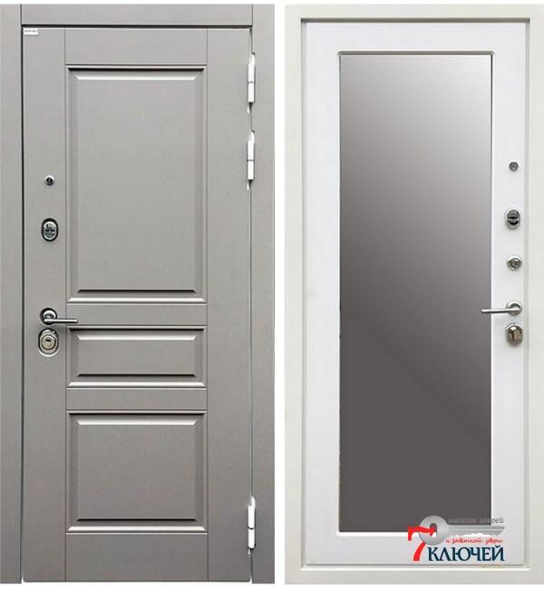Дверь ЛОНДОН ГРЕЙ с зеркалом
