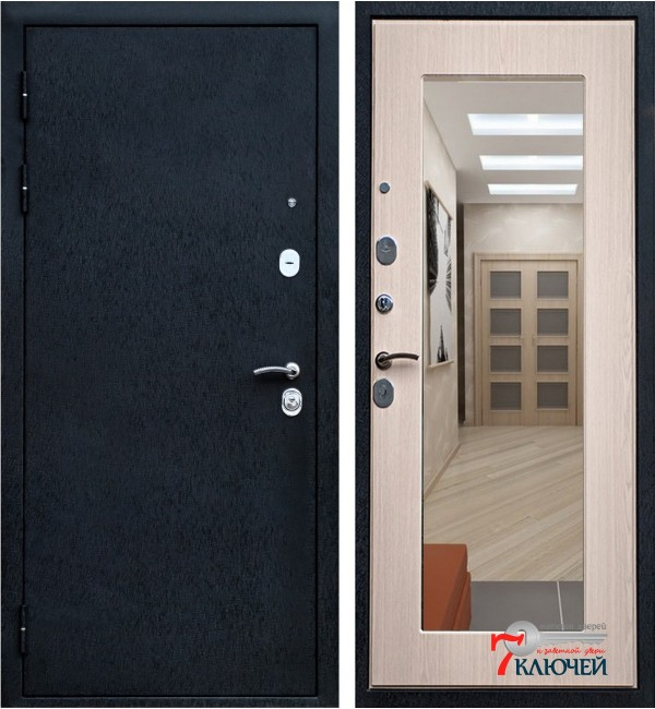 Дверь Ратибор Милан с зеркалом, бел. дуб.