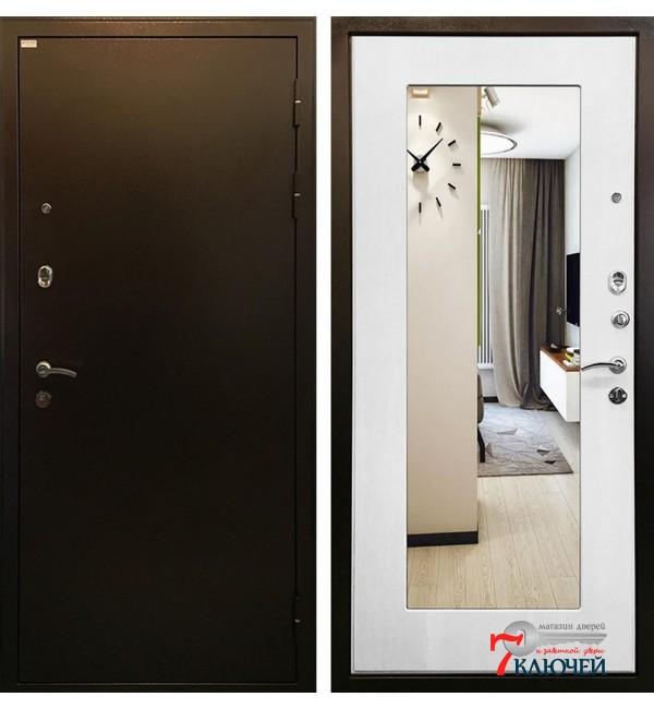 Дверь МИЛАН, белый ясень с зеркалом