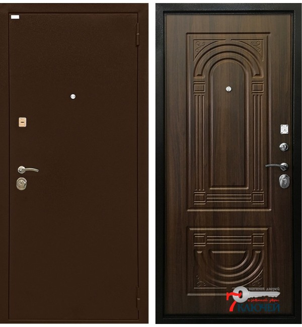 Дверь ОПТИМА, орех бренди