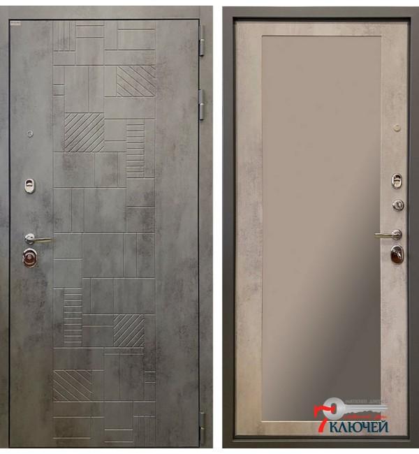 Дверь ТЕТРИС 3К с зеркалом
