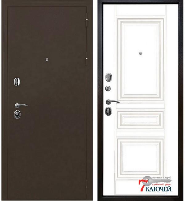 Дверь ТРОЯ, белый матовый