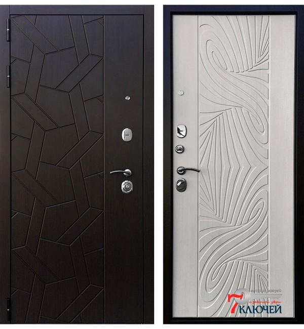 Дверь ВИТРАЖ, лиственница