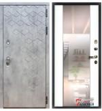 Дверь ПРЕМЬЕР-23 с зеркалом, силк сноу