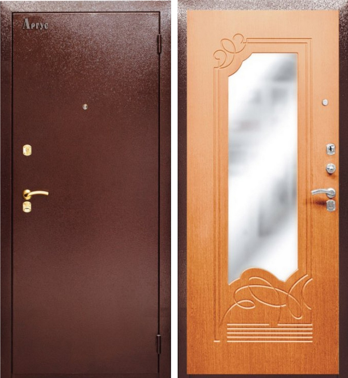 металлические двери с установко