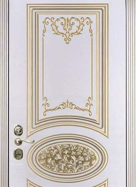 Пример внутренней отделки двери