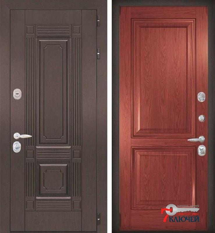 Дверь трехконтурная с отделкой шпоном