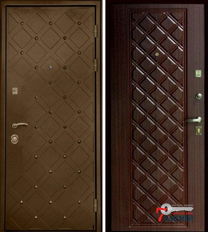 """Дверь с металлической внешней накладкой """"Сундук"""""""